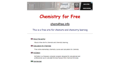 Preview of chem4free.info